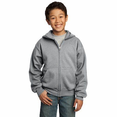 Port & Company Youth Sweatshirt: Full-Zip Hooded (PC90YZH)