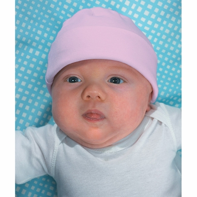 Rabbit Skins Infant Beanie: 100% Cotton Baby Rib Knit Cap (4451)