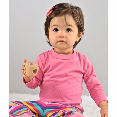 Rabbit Skins Infant T-Shirt: 100% Cotton Long-Sleeve (3414)