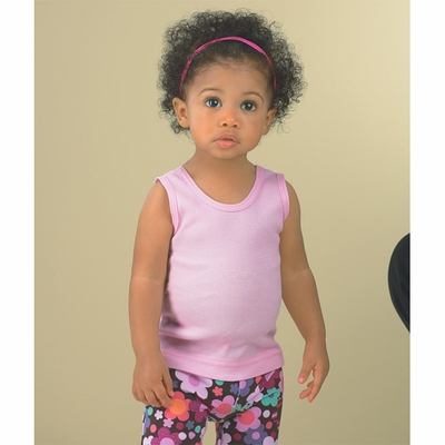Rabbit Skins Infant Tank Top: 100% Cotton 2x1 Rib (R3406)