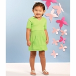 Rabbit Skins Toddler Girl's Dress: 100% Cotton Hooded V-Neck (5307)