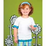 Rabbit Skins Toddler T-Shirt: 100% Cotton Double Ruffle (3338)