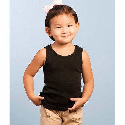 Rabbit Skins Toddler Tank Top: 100% Cotton 2x1 Rib (R3306)