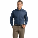 Red House Men's Dress Shirt: 100% Cotton Herringbone Non-Iron Button-Down (RH38)
