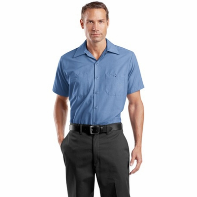 Red Kap Men's Industrial Work Shirt: (SP24)