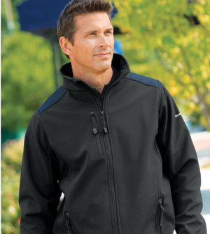 Reebok Men's Jacket: Soft Shell PlayShield (7208)