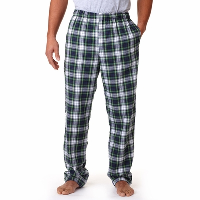 Robinson Men's Pajama Pants: 100% Cotton Flannel with Drawstring (9970)