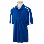 Russell Athletic Men's Polo Shirt: 100% Polyester Team Game Day with Colorblock Inserts (S92CFM)