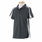 Russell Athletic Women's Polo Shirt: 100% Polyester Team Game Day with Colorblock Inserts (S92CFX)