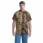 Russell Outdoors Men's T-Shirt: 100% Cotton Jersey Realtree Explorer Lightweight (NP0021R)