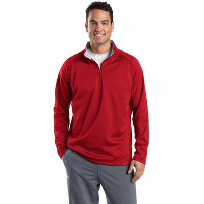 Sport-Tek Men's Jacket: 1/4-Zip Sport-Wick Fleece Pullover (F243)