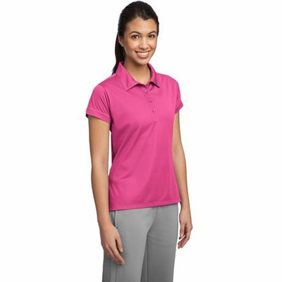 Sport-Tek Women's Polo Shirt: Moisture Wicking Micropique w/ Contrast Stitching(LST659)