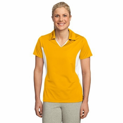 Sport-Tek Women's Polo Shirt: Side Blocked Micropique Sport-Wick (LST655)