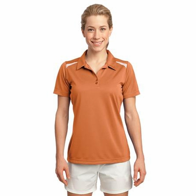 Sport-Tek Women's Polo Shirt: Vector Short Sleeve w/ Heat Transfer Piping(LST670)