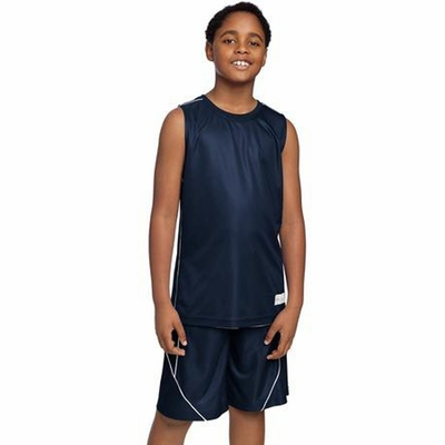 Sport-Tek Youth Sleeveless T-Shirt: Reversible 100% Mesh w/ Piping(YT555)