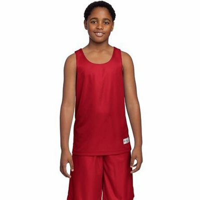 Sport-Tek Youth Tank Top: 100% Polyester Mesh Reversible(YT550)