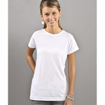 SubliVie Junior Women's T-Shirt: 100% Polyester Jersey Knit (L1610)