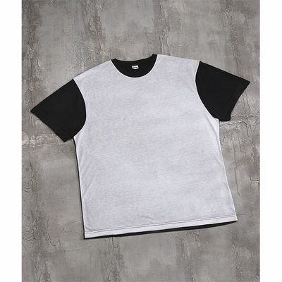 SubliVie Men's T-Shirt: 100% Polyester Jersey Knit Blackout (1902)