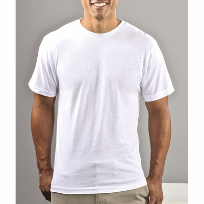 SubliVie Men's T-Shirt: 100% Polyester Jersey Knit (1910)