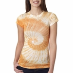Tie-Dye Junior Women's T-Shirt: (1455)