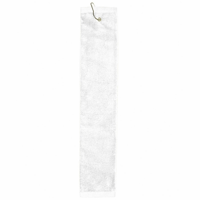 Towels Plus Hand Towel: 100% Cotton Tri-Fold Hemmed Grommet (T68TH)