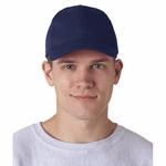 Classic Cut Brushed Cotton Twill Constructed Cap: (8110)