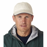 UltraClub Cap: 100% Cotton Classic Cut Chino Twill Unconstructed Sandwich (8104)