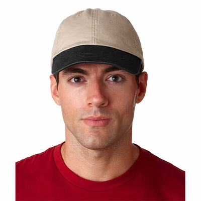 UltraClub Cap: 100% Cotton Classic Cut Chino Twill Unconstructed Two-Tone (8105)