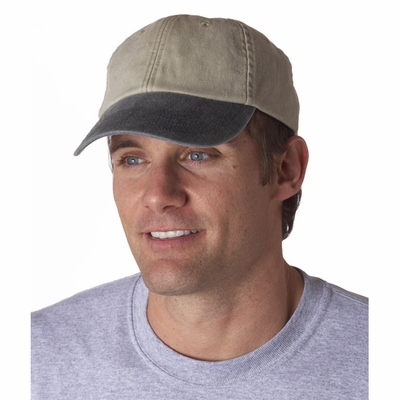 UltraClub Cap: 100% Cotton Classic Cut Two-Tone Pigment-Dyed (8141)