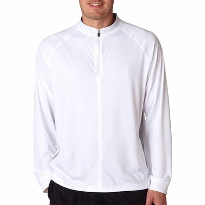 UltraClub Men's Athletic Top: Cool-N-Dry Long-Sleeve 1/4-Zip (8432)