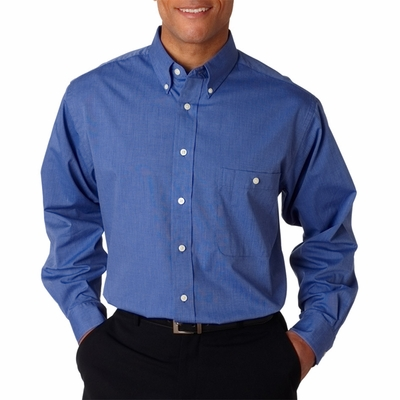 UltraClub Men's Dress Shirt: Wrinkle-Free End-On-End (8340)