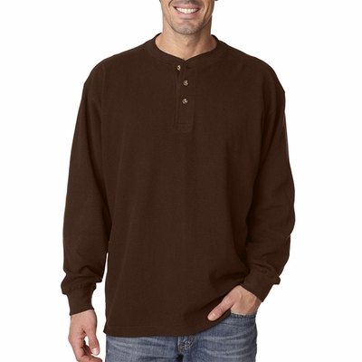 Adult Mini Thermal Henley: (8456)