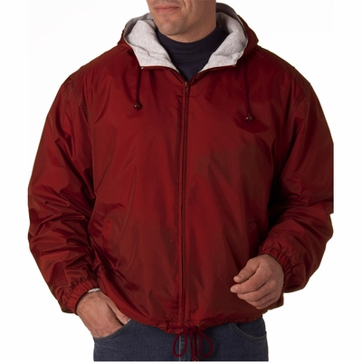 UltraClub Men's Jacket: Fleece-Lined Hooded (8915)