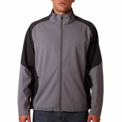 UltraClub Men's Jacket: Full Zip Soft Shell (8275)