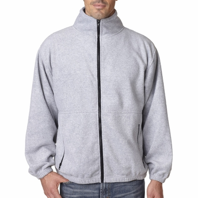 UltraClub Men's Jacket: Iceberg Fleece Full-Zip (8485)