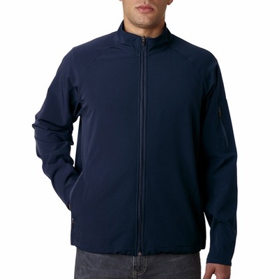UltraClub Men's Jacket: Lightweight Full Zip Soft Shell (8271)