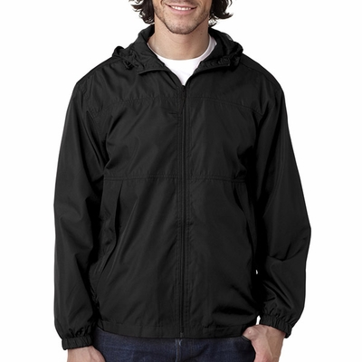 UltraClub Men's Jacket: Micro-Poly Full Zip w/ Hood (8935)