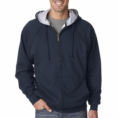 Adult Rugged Wear Thermal-Lined Full-Zip Hooded Fleece: (8463)