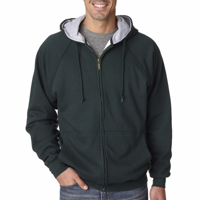 UltraClub Men's Jacket: Rugged Wear Thermal-Lined Full-Zip (8463)