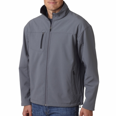 UltraClub Men's Jacket: Soft Shell w/ Cadet Collar (8280)