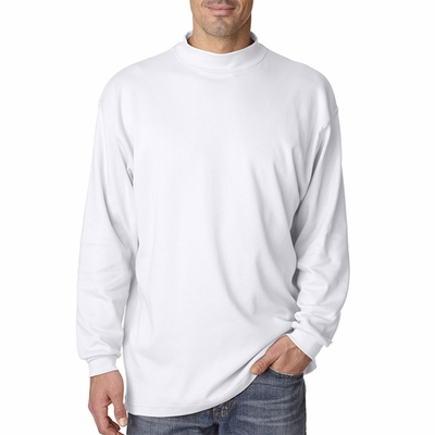 UltraClub Men's Mock Turtleneck: 100% Egyptian Cotton Interlock Long-Sleeve (8510)