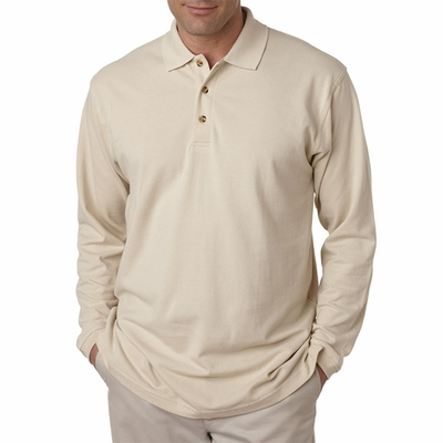 Adult Long-Sleeve Classic Piqué Polo: (8532)