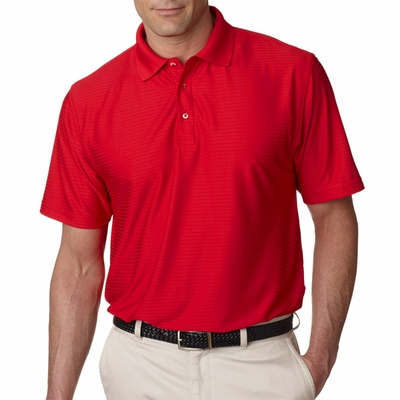 UltraClub Men's Polo Shirt: Cool-N-Dry Elite Drop-Needle Performance (8413)