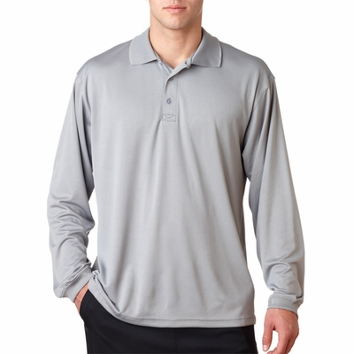UltraClub Men's Polo Shirt: Cool-N-Dry Sport Long-Sleeve (8405LS)