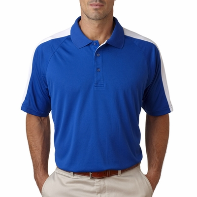 UltraClub Men's Polo Shirt: Cool-N-Dry Sport Shoulder Block (8409)
