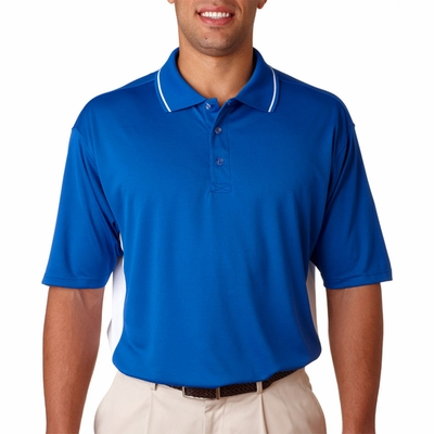 UltraClub Men's Polo Shirt: Cool-N-Dry Sport Two-Tone (8406)