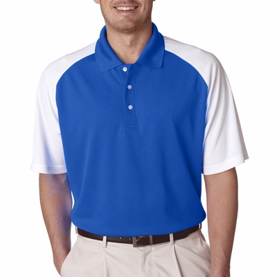 UltraClub Men's Polo Shirt: Cool-N-Dry Two-Tone Stain-Release Performance (8446)