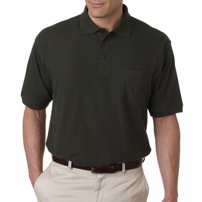 UltraClub Men's Polo Shirt: Whisper Pique with Pocket (8544)