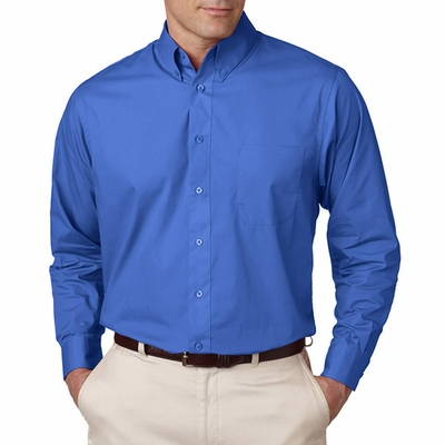UltraClub Men's Poplin Shirt: (8330)