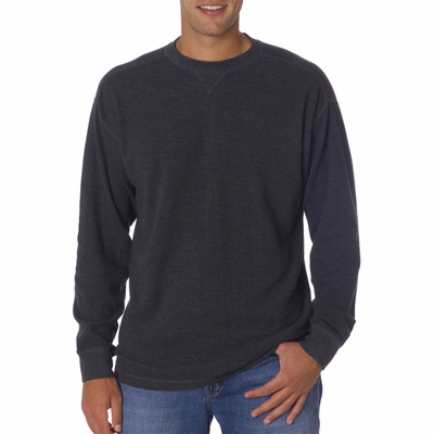 UltraClub Men's T-Shirt: 100% Cotton Mini Thermal Crewneck (8455)